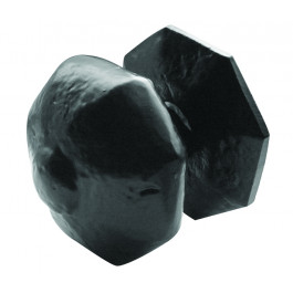 JAB6 - Centre Front Door Knob - Black Antique