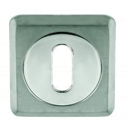 Euro Profile Chamfered Keyhole Cover - Polished Chrome
