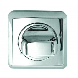 Spiral Door Handle Lever On Square Rose - Polished Chrome