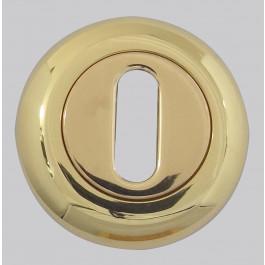 Paja Goccia Euro Profile Keyhole Cover - Polished Brass