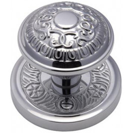 AYD1324-PC Heritage Brass Aydon Sprung Mortice Knob