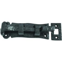 JAB41 - Solid Necked Door Bolt 125mm - Black Antique
