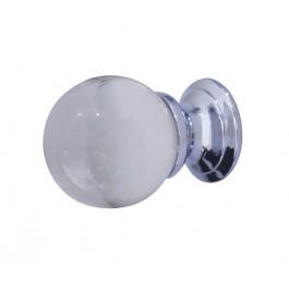 JH1151PC Plain Glass Clear Ball Cupboard Knobs Jedo Polished Chrome