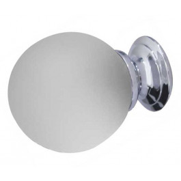 JH1156PC Plain Frosted Glass Ball Cupboard Knobs Jedo Polished Chrome