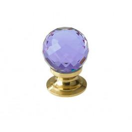 JH1260 Purple Coloured Glass Faceted Cupboard Knobs Jedo Polished Chrome,Satin Chrome & Polished Brass
