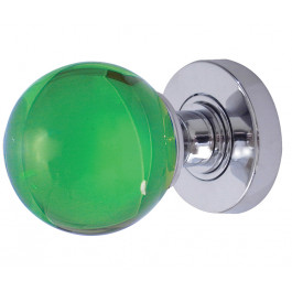 JH5208 Green Coloured Plain Ball Glass Sprung Mortice Knob Furniture Jedo