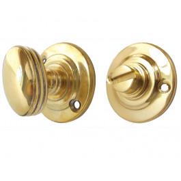 JV2680-PB Turn & Release Fluted-Ringed-Lined Jedo Polished Brass
