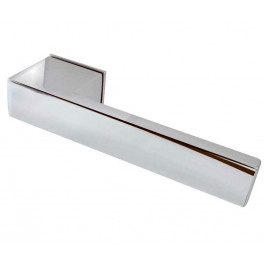 Minimal Reguitti Designer Lever on Square Rose Door Handle-Polished Chrome,Satin Chrome & Polished and satin Dual Finish-JV426