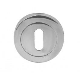 Jedo Standard Profile Keyhole Cover Escutcheon-Polished Chrome,Satin Chrome, Satin Nickil,Satin Brass,Rustic,Polished Brass,Polished Chrome/Black Nickel, Polished Chrome/Satin Chrome,Polished Chrome/Satin Nickel-JV503