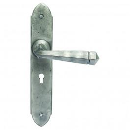 PE5504 Pewter Ludlow Gothic Door Handles