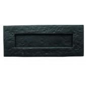 JAB12 - Traditional Plain Letterplate 270mm x 115mm - Black Antique