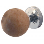 JH5213-PC Sunset Red Marble Sprung Mortice Knobs Jedo Polished Chrome