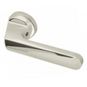Mariani Scan Designer Lever on Rose Door Handle - Polishd Chrome & Satin Chrome -JV572