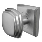 JV74-SC  Art Deco Square Rose Mortice Door Knobs Jedo Satin Chrome
