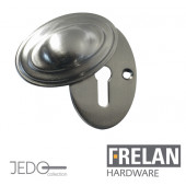 JV76 Covered Standard Profile Estcucheon , Satin Nickel, Polished Nickel or Antique Brass