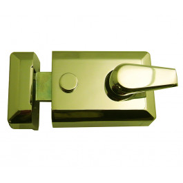 JL5021PB Yale Type Front Door Standard Night Latch 60mm Backset Polished Brass