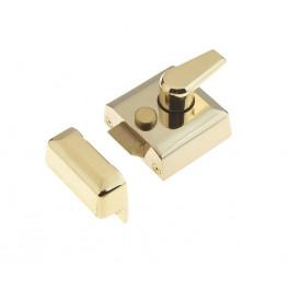 JL5031PB Yale type Front Door Narrow Style Night Latch 40mm Backset Polished Brass