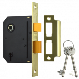 "UNION J-ES-SL-PB-3.0 Essential 3 Lever Sashlock 3"" Brass"