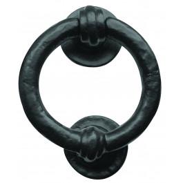 JAB7 - Ring Shaped Door Knocker 95mm - Black Antique