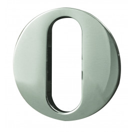 Reguitti Euro Profile Lever Keyhole Cover - Satin Chrome