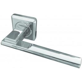 Seros Designer Lever on Rose Jedo Door Handle-Polished Chrome-JV3001PC