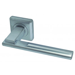 Seros Designer Lever on Rose Jedo Door Handle - Satin Chrome-JV3001SC