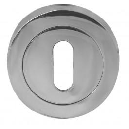 Jedo Euro Keyhole Cover - Polished Chrome