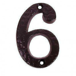 JAB15 - Front Door Number 100mm Black Antique - Number