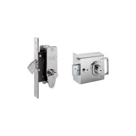 Banham House/Flat/ Apartment Locks L2000E and M2003 Keyed Alike 5 Keys - Polished Chrome