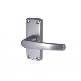 Aluminium Contract Lever Door handle On Backplate Wholesale Case Price