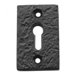 JAB70 - Rectangular Key Hole Escutcheon 50mm x 32mm - Black Antique
