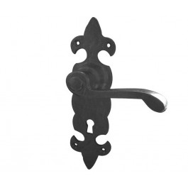 JAB83 - Fleur de Lys Door Handle - Black Antique lockSet