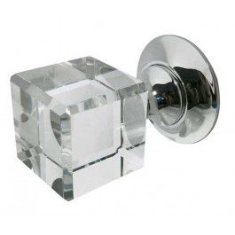 JH1170 Cube Glass Unsprung Mortice Knob Furniture Jedo
