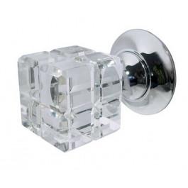 JH1180 Rubic Glass Unsprung Mortice Knob Furniture Jedo