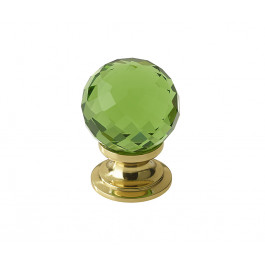 JH1259 Green Coloured Glass Faceted Cupboard Knobs Jedo Polished Chrome,Satin Chrome & Polished Brass