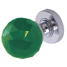 JH5259 Green Coloured Faceted Sprung Mortice Knob Furniture
