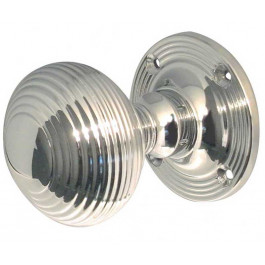 JR6MPC Reeded  Unsprung 53mm Mortice Knob