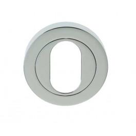 Jedo Oval Profile Keyhole Cover Escutcheon- Polished Chrome -JV503UPC