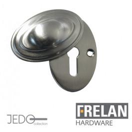 JV76 Covered Standard Profile Estcucheon , Satin Nickel, Polished Nickel or Antique Brass