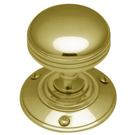 RHM988-PB Heritage Brass Richmond Sprung Mortice Knob