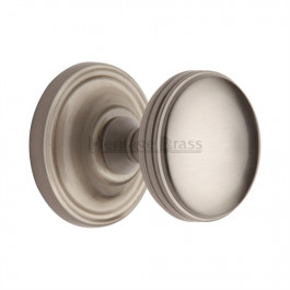 WHI6429-SN Heritage Brass Hampstead Sprung Concealed Mortice Knob