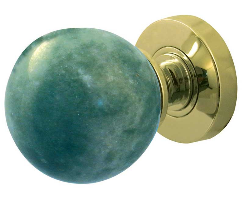 Jade Green Marble Sprung Mortice Knobs Jedo