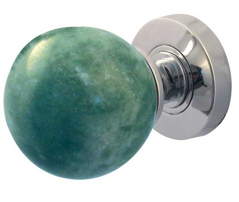 Jade Green Marble Mortice Knobs