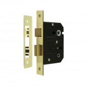 JL153EB - Contract Bathroom Lock Jedo Range 76mm Electro Brass Plate