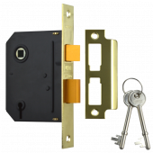 "UNION J-ES-SL-PB-3.0 Essential 3 Lever Sashlock 3"" Brass"