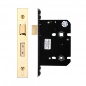 Architectural Bathroom Lock Zoo 79.5mm PVD Stainless Brass - ZUKB76PVD