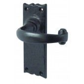 JAB2L - Regal Door Handle - Black Antique Latch Furniture Long Plate