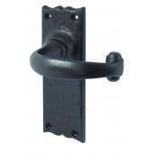 JAB2L - Regal Door Handle - Black Antique Latch Furniture Long Plate