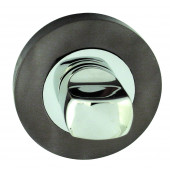 Rombo Door Handle Lever On Square Rose - Satin Chrome