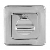 Mariani Square Bathroom Turn & Release - Polished Chrome